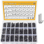 New              1200Pcs Assorted M2 M3 M4 Stainless Steel Screws & Socket Bolts and Nuts Set