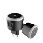 New              Bakeey 5V/2.4A Smart Travel Charger with LED Night Light Dual USB Fast Charging For iPhone XS 11Pro Oneplus 8Pro Xiaomi Mi10 Redmi Note 9S