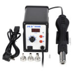 New              JCD 858D 700W 110V 2 in 1 Hot Air Soldering Station BGA Rework SMD SMT Welding Repair Tool Heater LED Digital Solder Iron