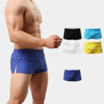 New              Beach Shorts Men Trunk Summer Short Pants Solid Breathable Quick Dry Swim Shorts Surfing Shorts