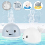 New              Small Night Light Infant Water Spray Ball Bathroom Baby Bath Toy Electric Induction for Children
