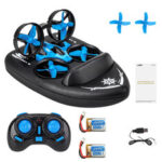 New              JJRC H36F Terzetto with Two Batteries 1/20 2.4G 3 In 1 RC Boat Vehicle Flying Drone Land Driving RTR Model