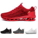 New              Flying Woven Men's Sneakers Breathable Mesh Sports Shoes Fish Scales Casual Running Shoes