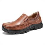 New              Menico Men Stricing Slip On Business Casual Leather Shoes