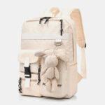 New              Women Large Capacity Waterproof Cartoon Ornament School Backpack