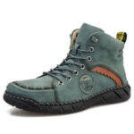 New              Menico Men Hand Stitching Leather Outdoor Non Slip Ankle Boots