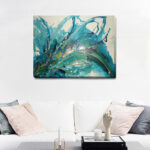 New              Abstract Stretched Canvas Print Frameless Wall Art Home Office Decor Painting Gift