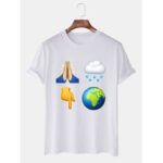 New              Mens Weather Print Round Neck Casual Short Sleeve T-Shirts