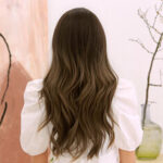 New              24 Inch Gradient Brown Long Curly Hair Layered Natural Elegant Heat Resistant Synthetic Fiber Wig