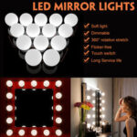 New              USB Powered 14 Bulbs Make Up LED Mirror Light Kit Vanity Hollywood Style Dimmable Dressing Lamp