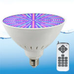 New              AC12V/120V E27 25W 252LED RGB Underwater Swimming Pool Light Color Change PAR38 Lamp+18 Key Remote Control