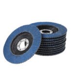 New              10pcs 4.5 Inch 40-120 Grit Sanding Flap Discs Frosted Sheet Blue Sand 115 Type Louvre Polishing Wheel