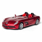 New              1:32 Alloy Mercedes BENZS SLR Pull Back Motor Diecast Car Model Toy with Sound Light for Gift Collection