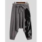 New              Banggood Designed Mesn 100% Cotton Drawstring Breathable Loose Fit Casual Jogger Pants