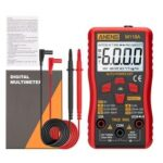 New              ANENG M118A Digital Mini Multimeter Tester Auto Multimeter True Rms Transistor Meter with NCV Data Hold 6000 Counts Flashlight