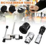 New              4 Pcs Bicycle Repair Tool Cycling Bike Chain Crank Wheel Set Remover Axle Tools
