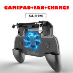 New              KONEY TECH S9 Mobile Game Controller For PUBG Triggers Joystick Gamepad With Cooling Fan For iPhone XS 11Pro Huawei P30 P40 Xiaomi MI10 OnePlus 8Pro
