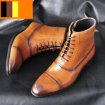 New              Men Carved Comfy Slip Resistant Casual Brogue Formal Ankle Boots