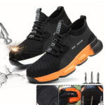 New              Unisex Safety Work Shoes Flying Weaving Steel Toe Cap Running Shoes Camping Climbing Walking Jogging Sneakers
