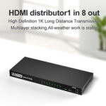New              Bakeey HDMI HD Audio Video Splitter Adapter 1080P HD Adapter With 8*HDMI Output / 1* HDMI Input For Nootebook DVD Player TV