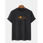 New              Mens 100% Cotton Halloween Cartoon Print Crew Neck Short Sleeve T-Shirts