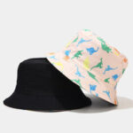 New              Women Double-Sided Cartoon Printing Summer Outdoor UV Protection Casual Sun Hat Bucket Hat