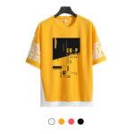 New              Teenager Half-sleeve Shirt Cool Street Loose Short Sleeve Breathable Comfortable T-shirt Casual Hiking Cycling Travel
