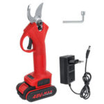 New              30mm 48V Electric Garden Pruner Scissors Cordless Pruning Shears Branch Cutter W/ 1 Or 2 Li-ion Battery