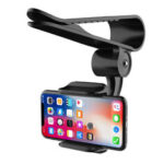 New              Bakeey Universal 360° Adjustable GPS Car Clip Sun Visor Cell Phone Holder For Most smartphones Such For Samsung For iphone Xiaomi Huawei