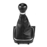 New              5 Speed Gear Knob Shift Gaitor Gaiter Boot Leather For VW Golf Jetta MK5 MK6 UK