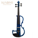 New              Naomi Violin Full Size 4/4 Solid Wood Electric Violin Basswood Body Ebony Fingerboard Pegs with Ebony Ebony Accessories