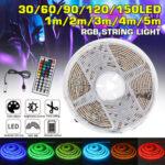 New              Waterproof USB 5050 RGB LED Strip Light Color Changing Tape Flexible Kitchen Lamp DC5V + 44Keys Remote Control