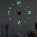 New              27/37/47Inch DIY Wall Clock Silent Quartz Luminous Wall Night Clocks
