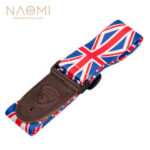 New              NAOMI Guitar Strap PU Leather End Adjustable Shoulder Strap For Acoustic Guitar Electric Guitar Musical Instrument Accessories