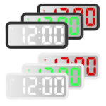 New              LED Digital Alarm Clock Mirror Table Display Temperature Snooze Room Wake up USB