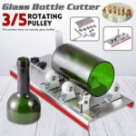 New              3/5 Pulley  DIY Glass Bottle Cutter Cutting Machine Jar Recycle Crafts Art