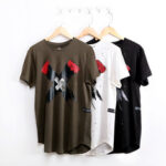 New              Men Casual Cross Pattern T-shirt Slim Fit Tee shirt Short-sleeved Sports Crew Neck Tops Men Clothing