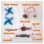 New              XK K110 RC Helicopter Spare Parts Brushless Tail ESC and Motor System Upgrade Kits