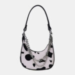 New              Women Cow Pattern Casual Stylish Chain Tote Shoulder Bag Handbag
