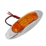 New              10Pcs Yellow 3LED 24V Side Marker Indicator Light Clearance Lamp Truck Trailer Lorry Van