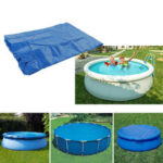 New              240/258/385/360cm Outdoor Garden Durable PE Swimming Pool Cover Waterproof Rainproof Dustproof Cover Blue Round Swimming Pool & Accessories