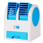 New              USB Mini Portable Desktop Air Conditioner Small Fan Cooling Humidifier Cooler