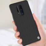 New              NILLKIN for Oneplus 8 Pro Case Anti-fingerprint Anti-slip Nylon Synthetic Fiber Textured Shockproof Protective Case Back Cover