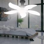New              E27/B22 LED Garage Lamp 2/3/4/5 Blades Folding Light Bulb Deformable Ceiling Fixture Workshop Lighting