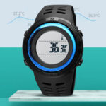 New              SKMEI 1681 Body Ambient Temperature Monitor Date Week Luminous Display Chronograph Waterproof Fashion Universal Digital Watch