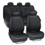 New              9pcs PU Leather Car SUV Seat Cover Front Rear Full Set Cushion Protector 5 Seats