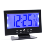 New              Digital Alarm Clock with LCD Display Voice-activated Backlight Electric Clock