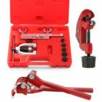 New              9pcs Brake Pipe Flaring Kit Fuel Repair Tool Set Tube Bender Cutter Storage Box