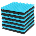 New              12Pcs Acoustic Soundproofing Studio Foam Tiles Sound-Proof Foam Tile Acoustic Studio Wedge Board Set