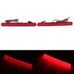 New              Pair LED Rear Bumper Brake Light Reflectors Red For Honda Acura TSX 2009-2014 Accord 2008-2015